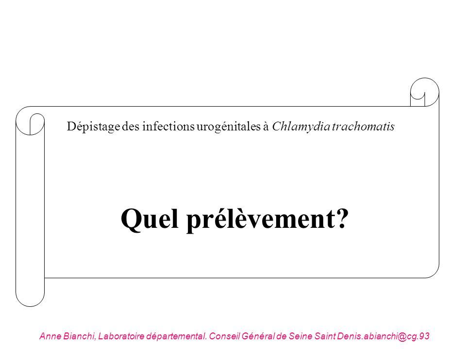 Dépistage des infections urogénitales à Chlamydia trachomatis
