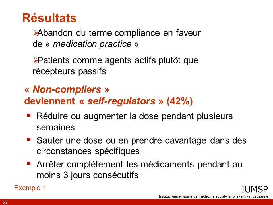 « Non-compliers » deviennent « self-regulators » (42%)