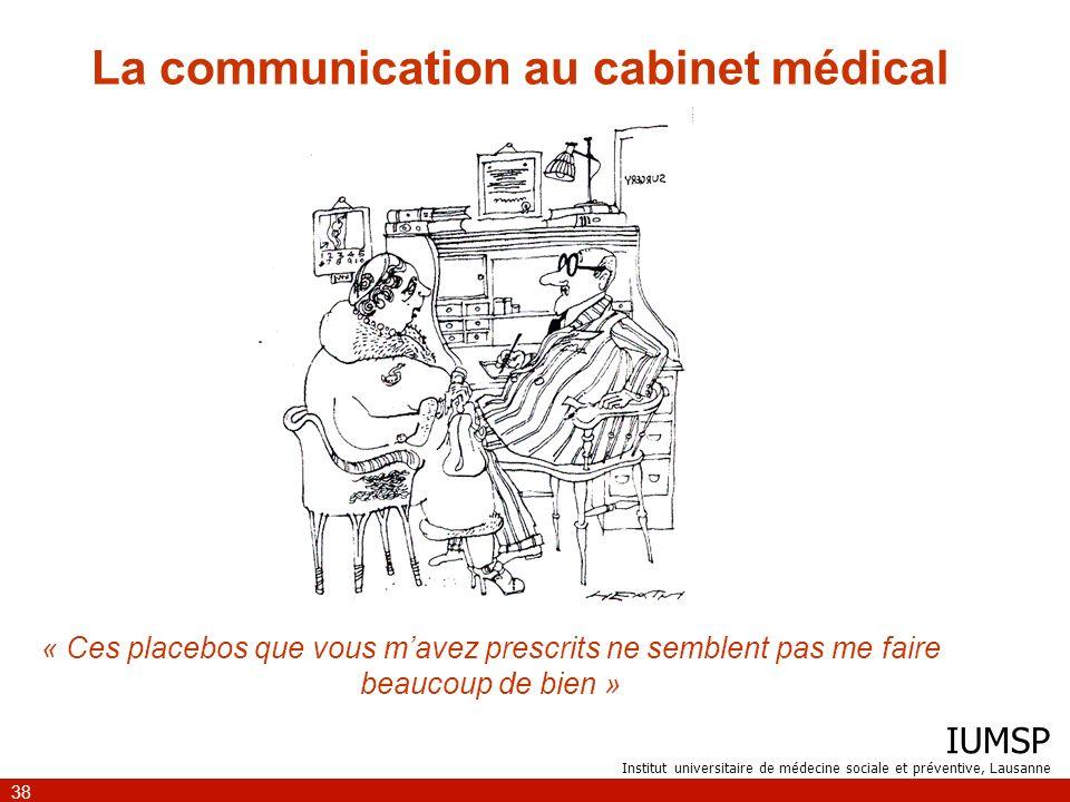 La communication au cabinet médical