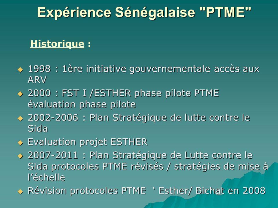 Expérience Sénégalaise PTME