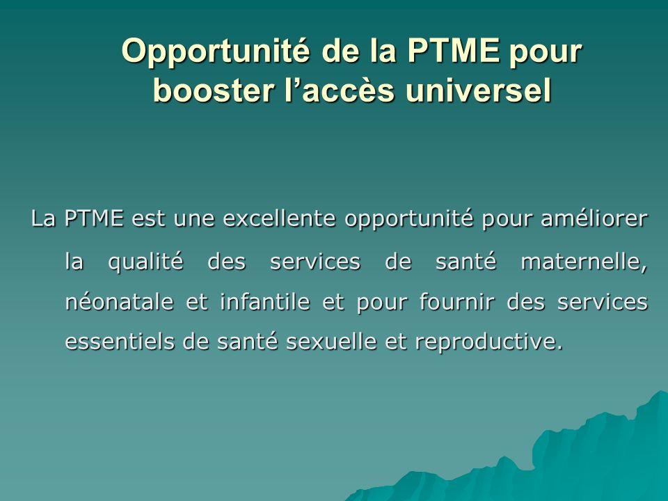 Opportunité de la PTME pour booster l'accès universel
