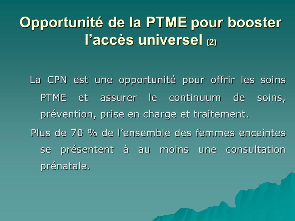 Opportunité de la PTME pour booster l'accès universel (2)