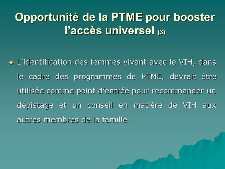 Opportunité de la PTME pour booster l'accès universel (3)