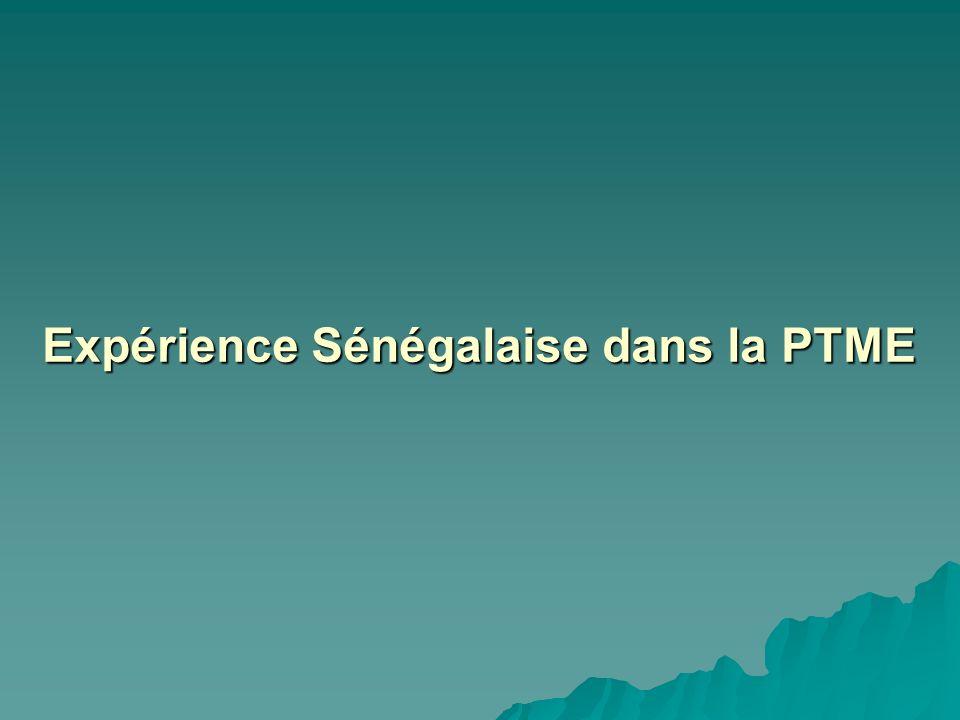 Expérience Sénégalaise dans la PTME