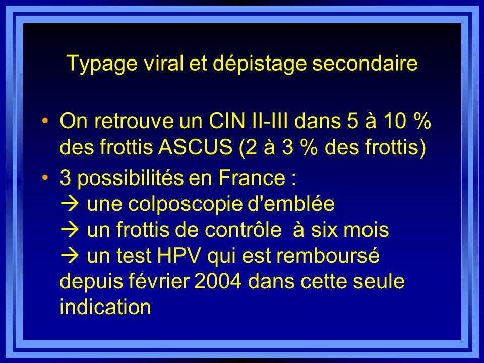 Typage viral et dépistage secondaire