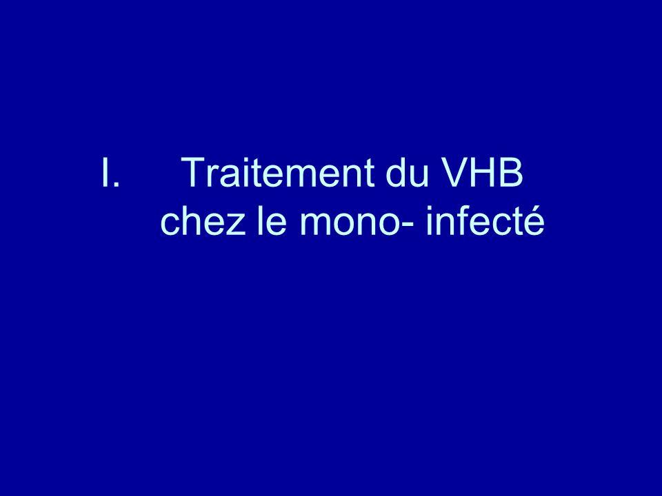 Traitement du VHB chez le mono- infecté