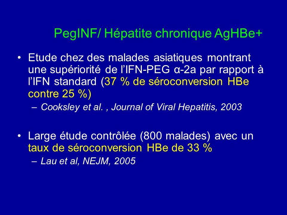 PegINF/ Hépatite chronique AgHBe+