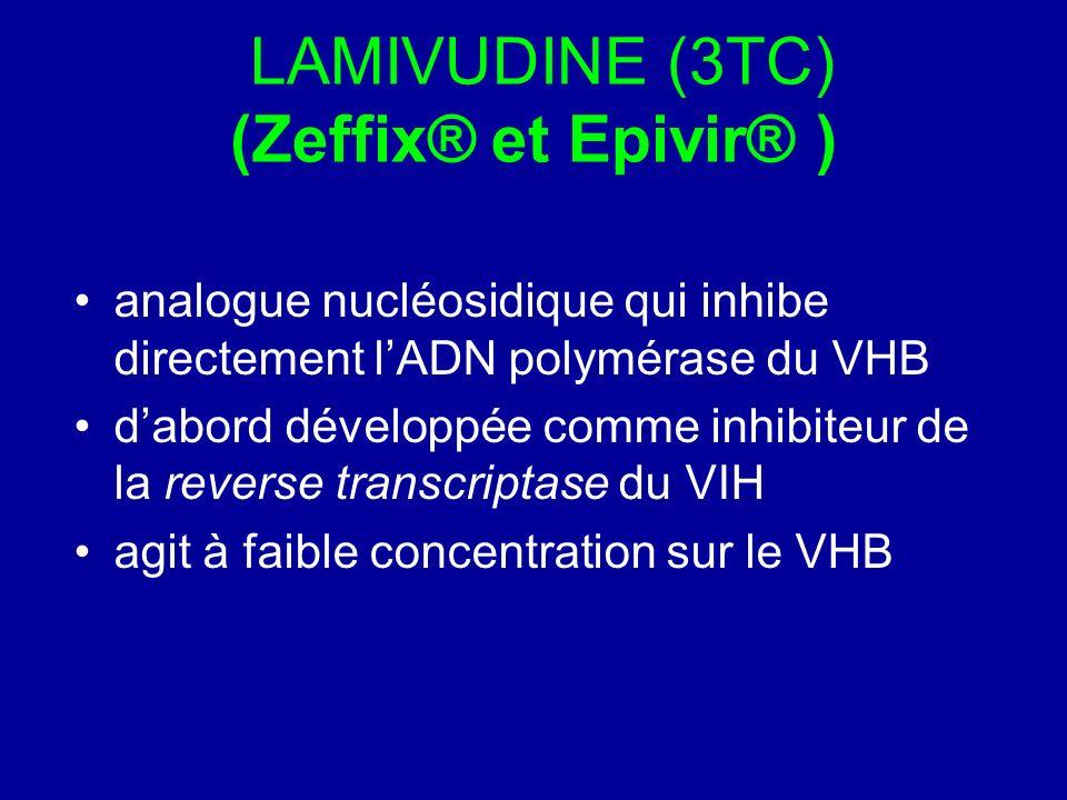 LAMIVUDINE (3TC) (Zeffix® et Epivir® )