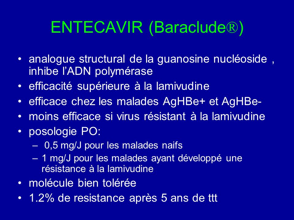 ENTECAVIR (Baraclude®)