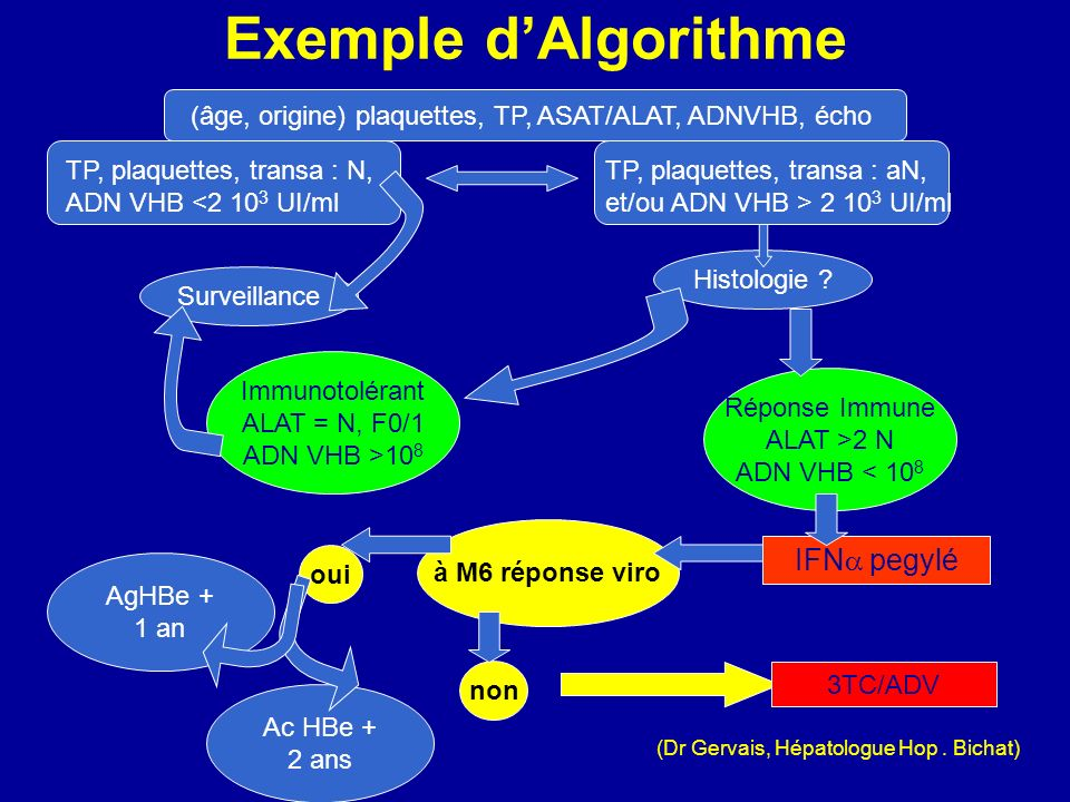 Exemple d'Algorithme IFN pegylé