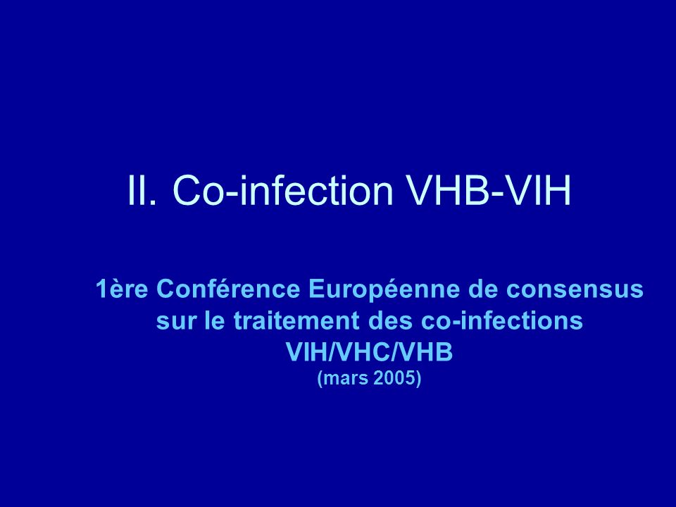 II. Co-infection VHB-VIH