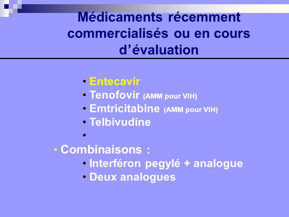 Médicaments récemment commercialisés ou en cours d'évaluation