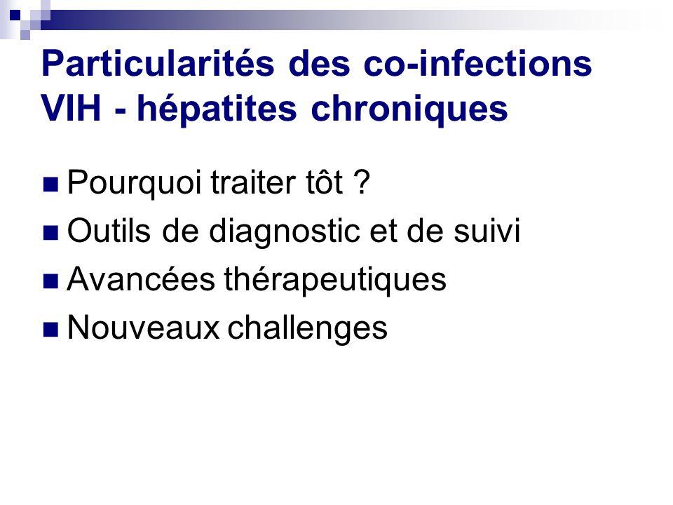 Particularités des co-infections VIH - hépatites chroniques