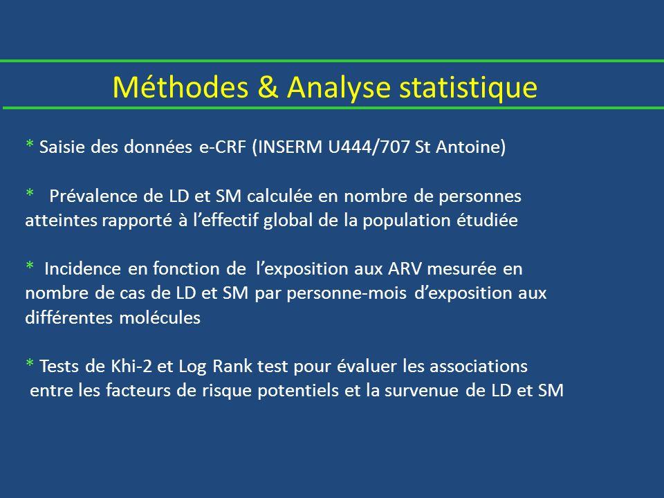 Méthodes & Analyse statistique