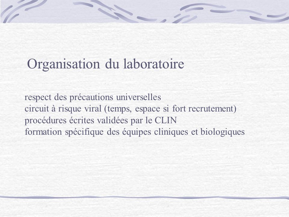 Organisation du laboratoire