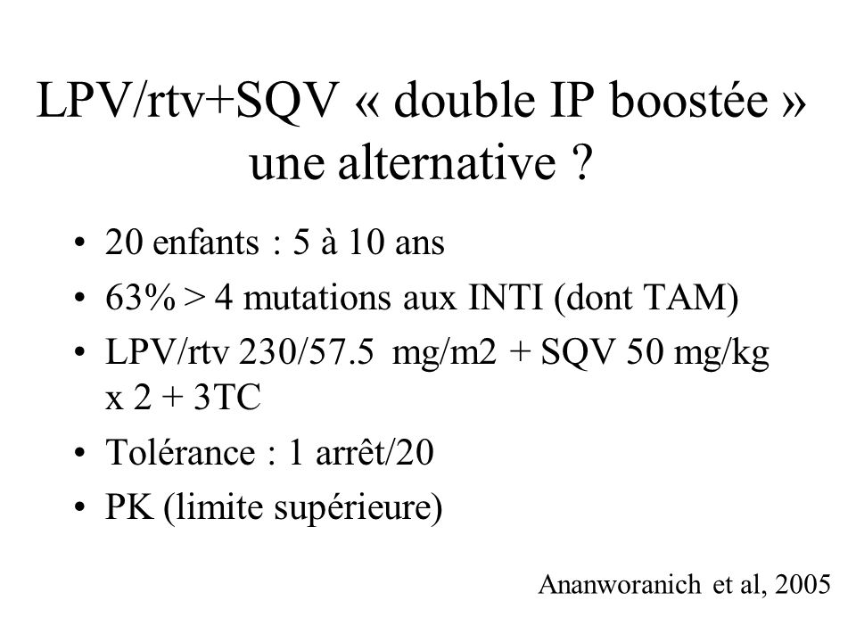 LPV/rtv+SQV « double IP boostée » une alternative