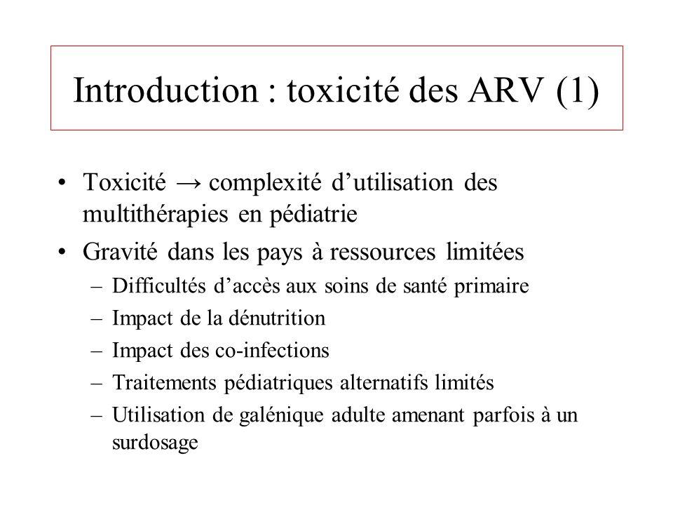 Introduction : toxicité des ARV (1)