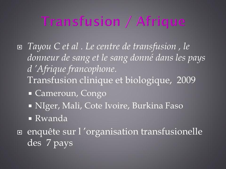 Transfusion / Afrique