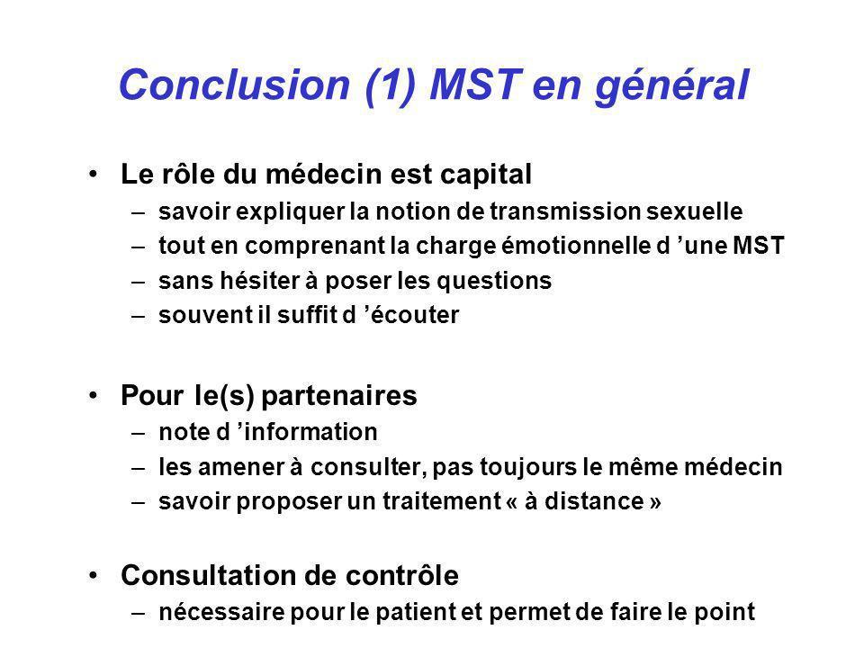 Conclusion (1) MST en général