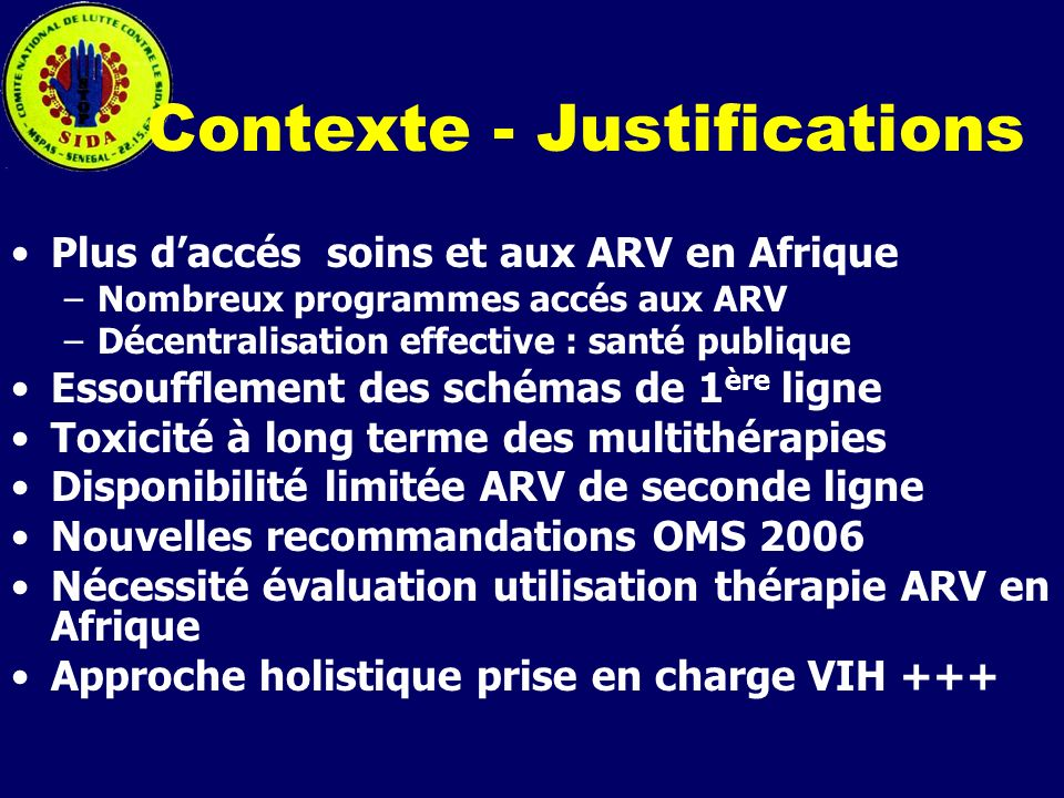 Contexte - Justifications