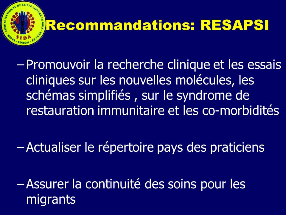 Recommandations: RESAPSI