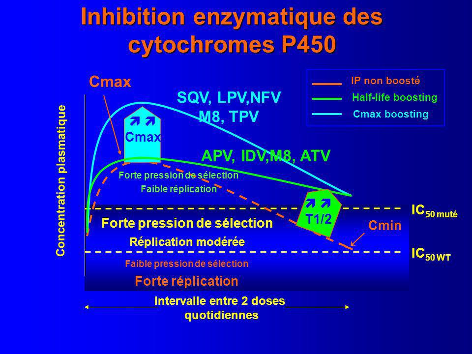 Inhibition enzymatique des cytochromes P450