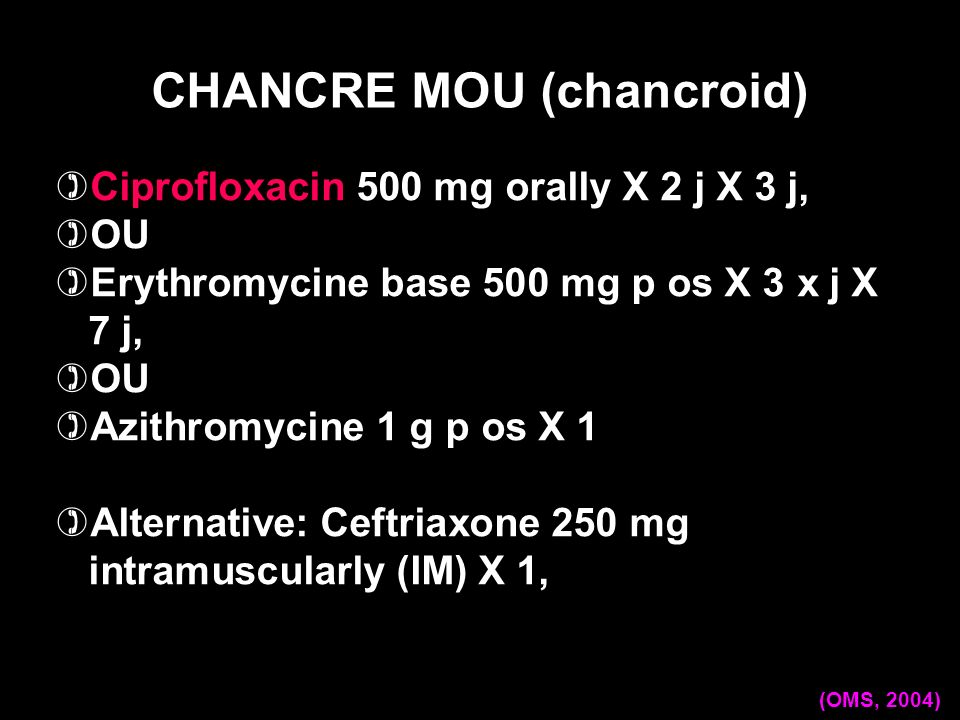 CHANCRE MOU (chancroid)