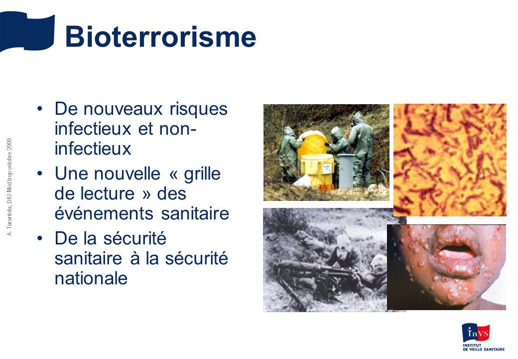Bioterrorisme De nouveaux risques infectieux et non-infectieux
