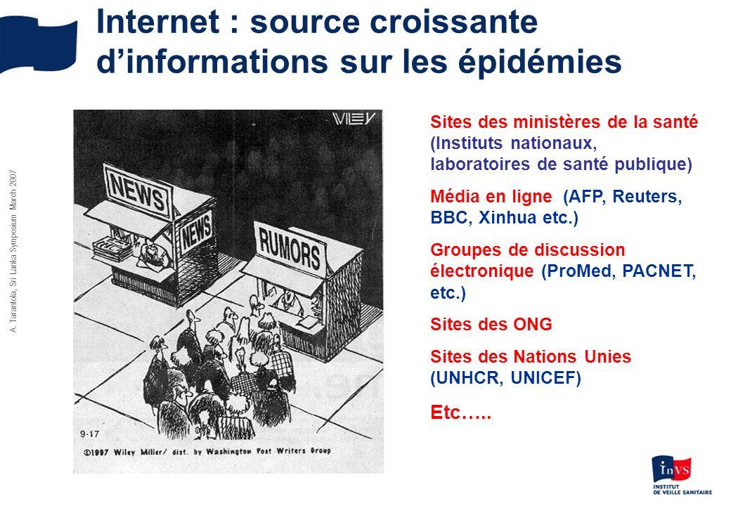 Internet : source croissante d'informations sur les épidémies