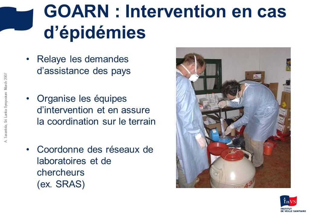 GOARN : Intervention en cas d'épidémies
