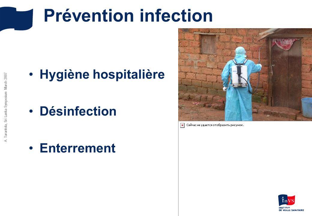 Prévention infection Hygiène hospitalière Désinfection Enterrement