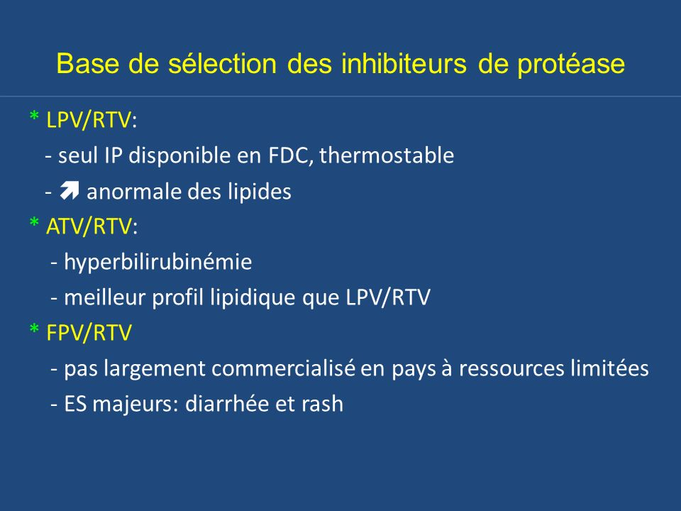 Base de sélection des inhibiteurs de protéase