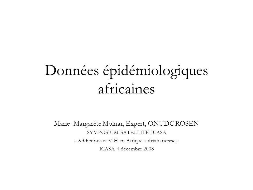 Données épidémiologiques africaines
