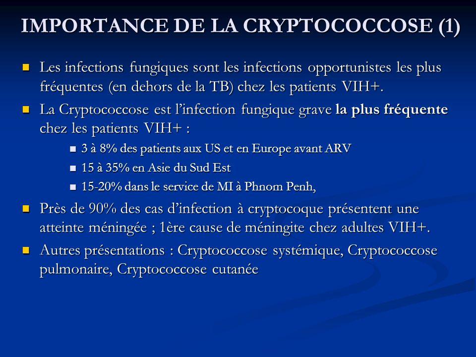 IMPORTANCE DE LA CRYPTOCOCCOSE (1)