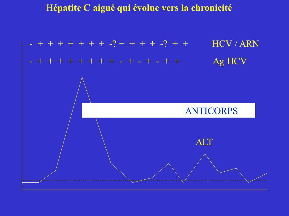 Hépatite C aiguë qui évolue vers la chronicité