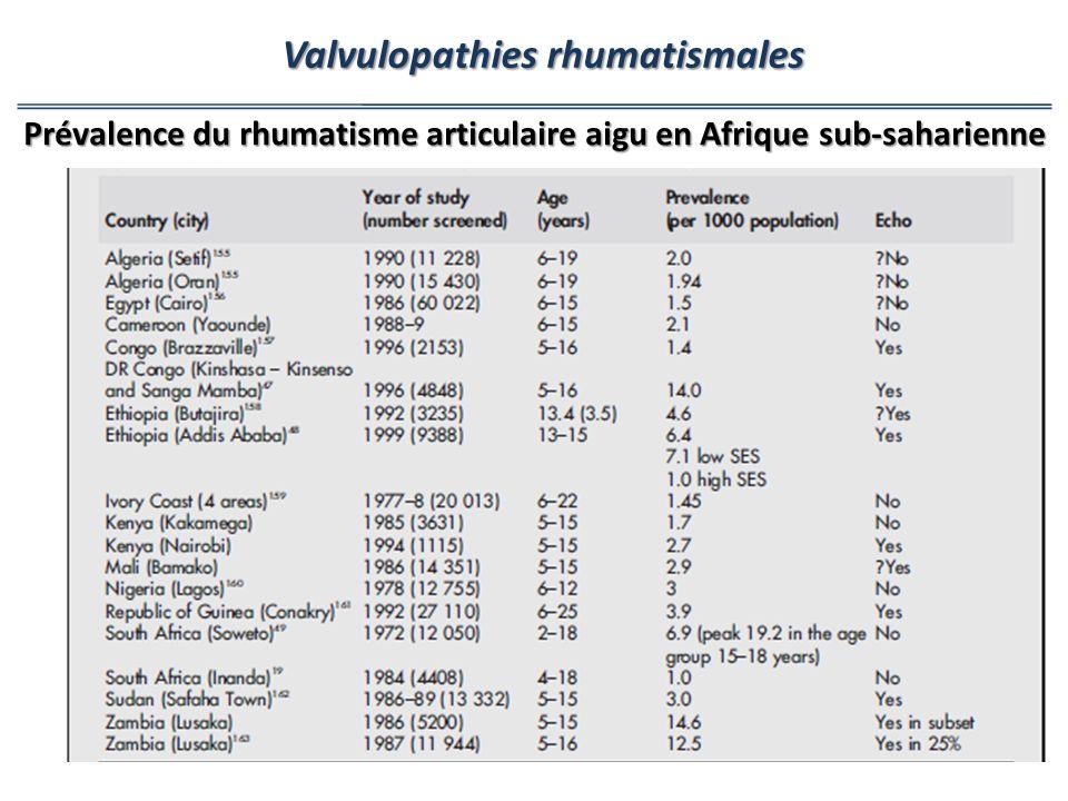 Valvulopathies rhumatismales