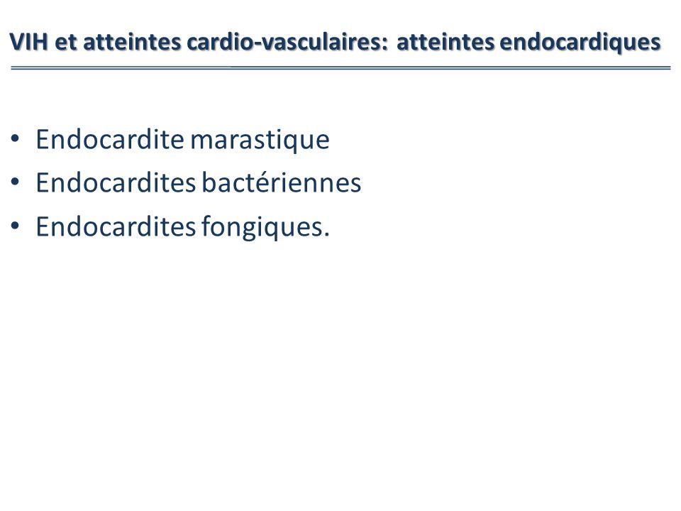 VIH et atteintes cardio-vasculaires: atteintes endocardiques