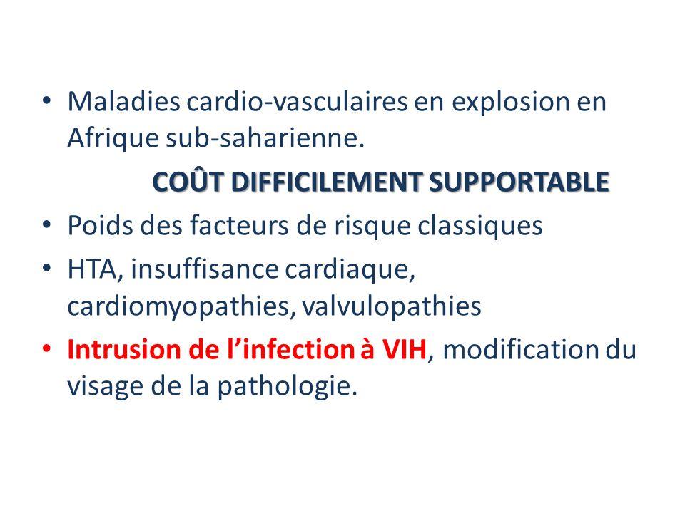 Maladies cardio-vasculaires en explosion en Afrique sub-saharienne.