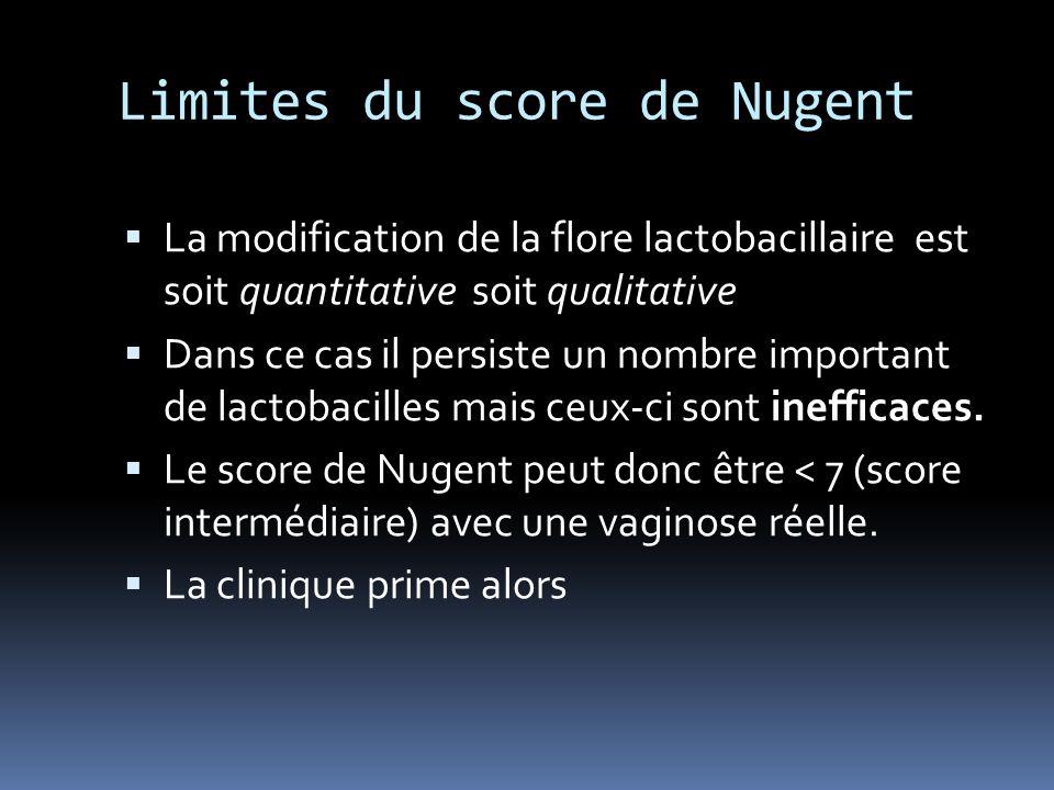 Limites du score de Nugent
