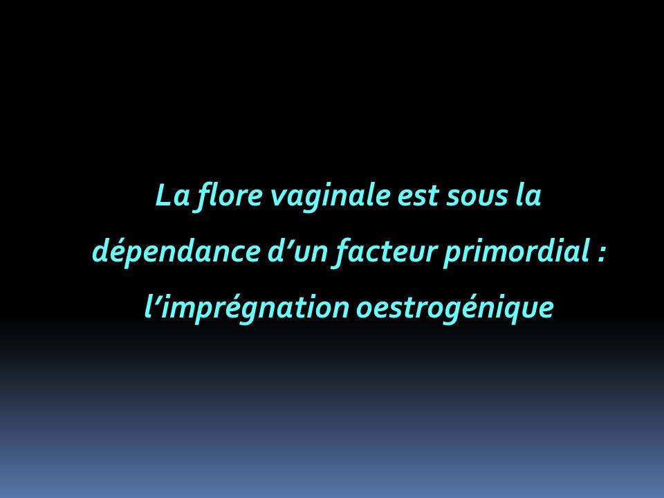 La flore vaginale est sous la dépendance d'un facteur primordial : l'imprégnation oestrogénique
