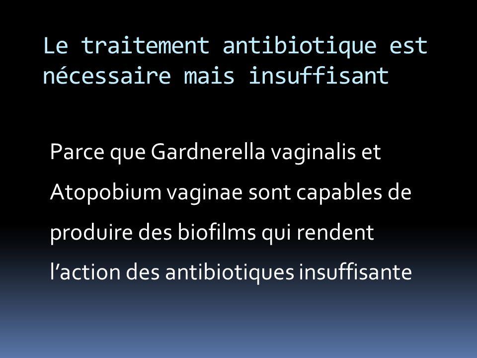 Le traitement antibiotique est nécessaire mais insuffisant