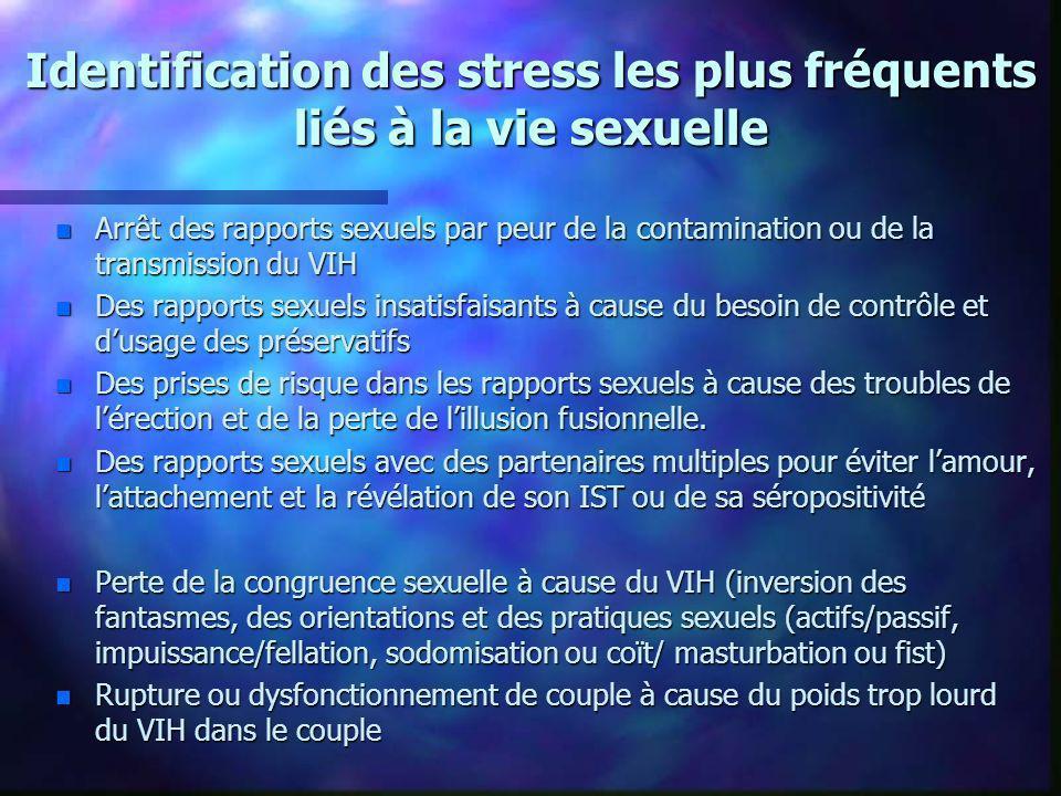 Identification des stress les plus fréquents liés à la vie sexuelle