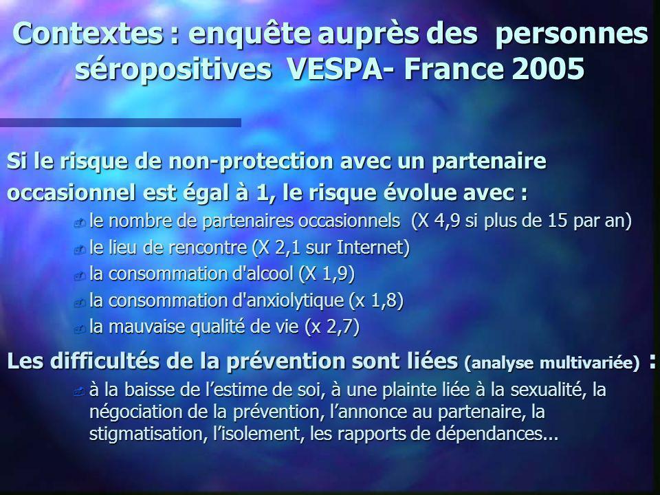 Contextes : enquête auprès des personnes séropositives VESPA- France 2005