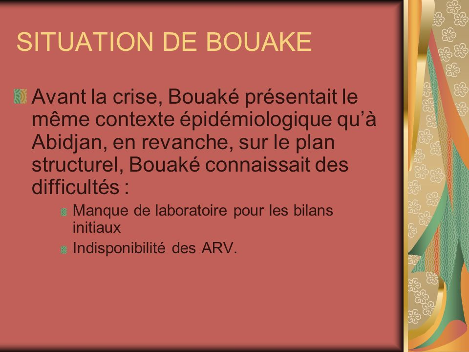 SITUATION DE BOUAKE