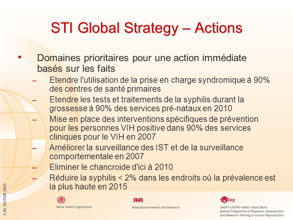 STI Global Strategy – Actions