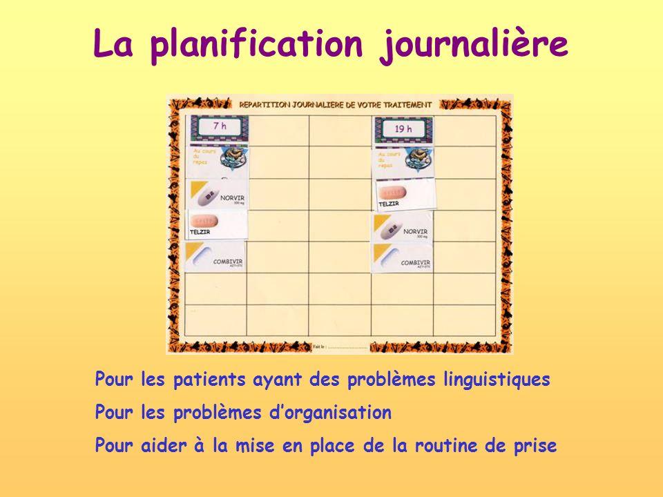 La planification journalière