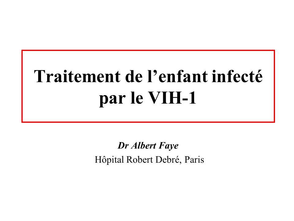 Traitement de l'enfant infecté par le VIH-1