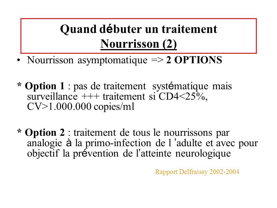 Quand débuter un traitement Nourrisson (2)