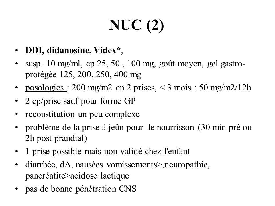 NUC (2) DDI, didanosine, Videx*,