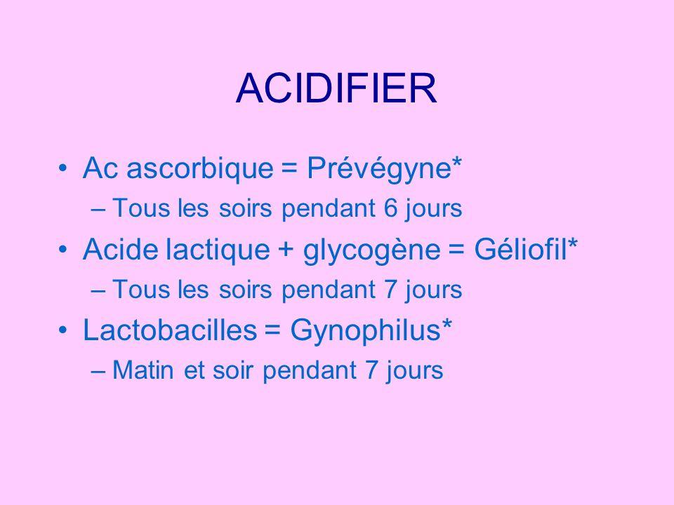 ACIDIFIER Ac ascorbique = Prévégyne*
